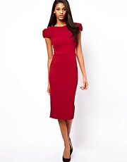 ASOS Pencil Dress With Fold Sleeve Detail
