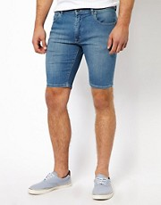 ASOS Denim Short In Super Skinny Fit