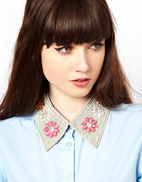 Image 1 ofASOS Rossetti Floral Collar Necklace