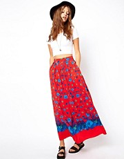 ASOS Maxi Skirt in Floral Print