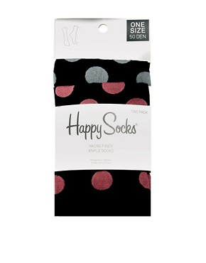 Image 3 ofHappy Socks Spot 2 Pack Socks