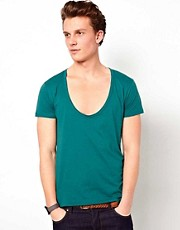 ASOS T-Shirt With Deep Scoop Neck