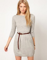 ASOS Boat Neck Knitted Dress
