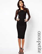 ASOS PETITE Bodycon With Lace Insert