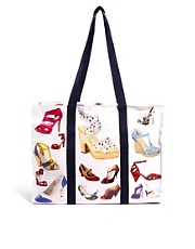 Bolso shopper con diseo de zapatos de Blue Q