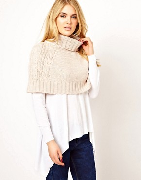 Image 1 ofOasis Cropped Chunky Cape