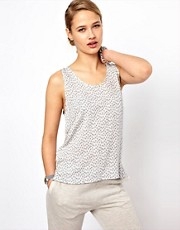 Selected Norma Printed Shell Top with Contrast Back
