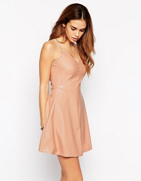 Glamorous Skater Dress in PU