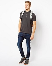 ASOS Polo In Pique With Button Down Collar