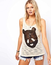 Camiseta sin mangas con panda de ASOS