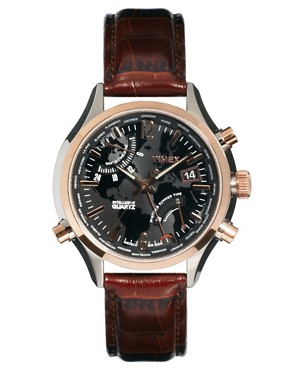 Image 1 ofTimex Intelligent Quartz Leather Watch