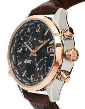 Image 3 ofTimex Intelligent Quartz Leather Watch