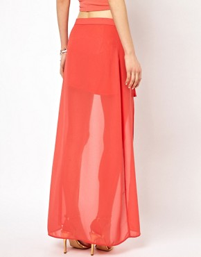 Image 2 ofOh My Love High Front Maxi Skirt