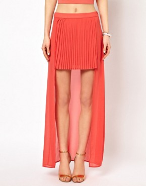 Image 4 ofOh My Love High Front Maxi Skirt