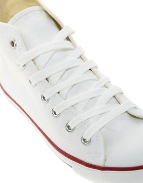 Image 2 ofConverse All Star Dainty White High Top Trainers