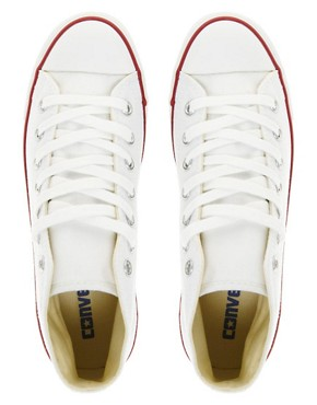 Image 4 ofConverse All Star Dainty White High Top Trainers