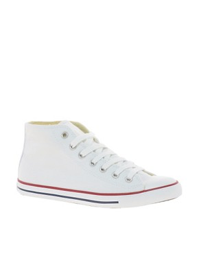 Image 1 ofConverse All Star Dainty White High Top Trainers