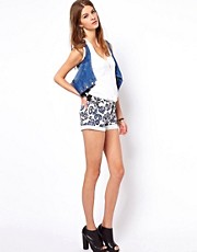 Vivienne Westwood Anglomania For Lee Leopard Denim Shorts