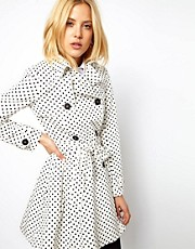 ASOS  Spot  Skater-Trenchcoat