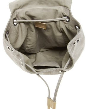 Image 2 ofASOS Premium Leather Backpack With Zip Detail