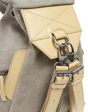 Image 4 ofASOS Premium Leather Backpack With Zip Detail