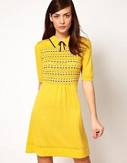 Orla Kiely Knitted Dress in Boat Pointelle