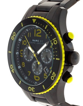 Image 3 of Marc By Marc Jacobs Black & Yellow Marine Rock Watch