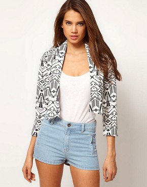 Image 1 ofASOS Aztec Print Jacket