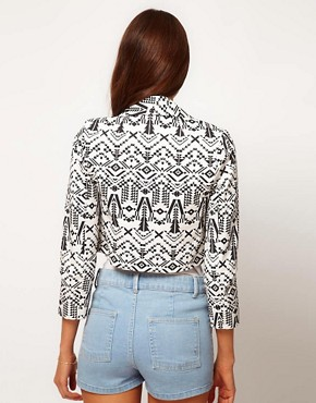 Image 2 ofASOS Aztec Print Jacket
