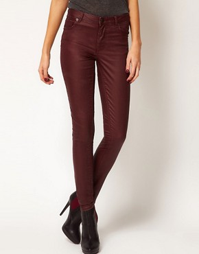 Image 1 ofWarehouse Coated Skinny Jean
