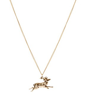 Image 1 ofAnd Mary Running Stag Necklace