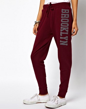 Image 4 ofASOS Sweatpants with Towel Embroidery