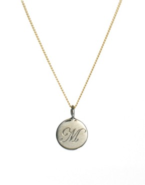Image 1 ofLaura Lee M Letter Pendant Necklace