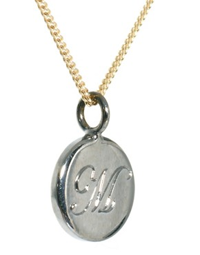Image 4 ofLaura Lee M Letter Pendant Necklace
