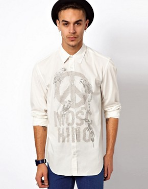 Image 1 ofLove Moschino Shirt with Bird Logo