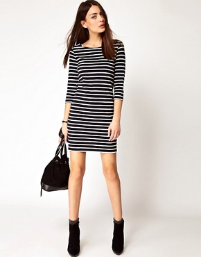 Image 4 ofGanni Nautical Straight Jersey Dress