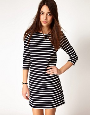 Image 1 ofGanni Nautical Straight Jersey Dress