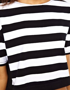 Image 3 ofASOS Cropped T-Shirt with Thick Stripe
