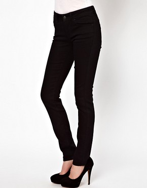 Image 1 ofASOS Elgin Supersoft Skinny Jeans in Black