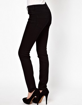 Image 2 ofASOS Elgin Supersoft Skinny Jeans in Black