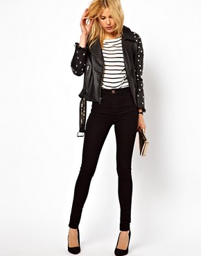 Image 4 ofASOS Elgin Supersoft Skinny Jeans in Black