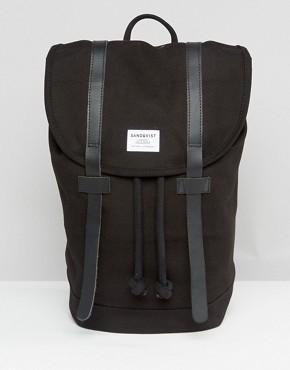 Sandqvist Stig Backpack In Black