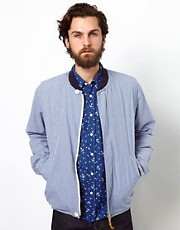 Universal Works Bomber Jacket In Gingham Check