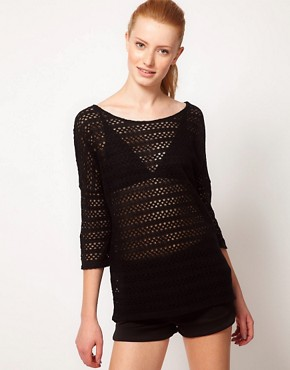 Image 1 of Oasis Crochet Sparkle Top