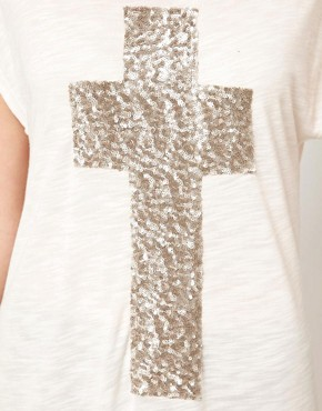 Image 3 ofVero Moda Cross T-Shirt