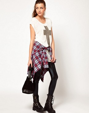 Image 4 ofVero Moda Cross T-Shirt