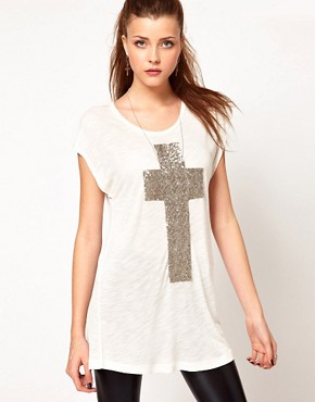 Image 1 ofVero Moda Cross T-Shirt