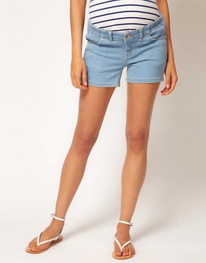 Image 4 ofASOS Maternity Exclusive Denim Short
