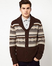 Peter Werth Cardigan With Shawl Collar
