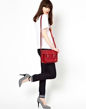 Image 3 ofCambridge Satchel Company Red Leather 11&quot; Satchel